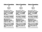 Order of Operations Bookmarks