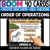 Order of Operations Boom Cards Grade 5 | Distance Learning