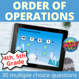 Order of Operations Boom Cards Winter Distance Learning