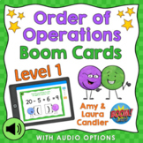 Order of Operations Level 1 Boom Cards Digital Task Cards