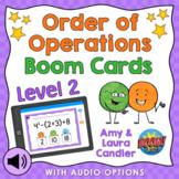 Order of Operations Level 2 Boom Cards Digital Task Cards