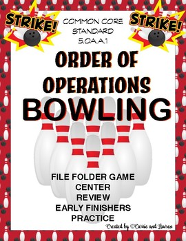 Order of Operations Bowling