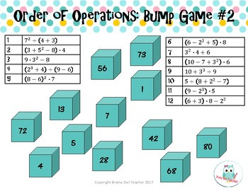 Order of Operations Bump Game