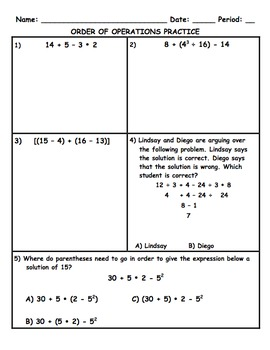 Order of Operations Bundle!! 3 Great Products!