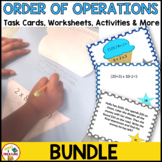 Order of Operations Bundle (Task Cards, Worksheets, Craft Activity, Song)
