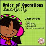 "Order of Operations Bundle Up ""PEMDAS Game"" (Order of Operations Worksheets)"