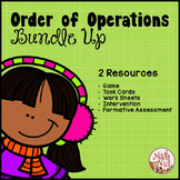 "Order of Operations Bundle Up ""PEMDAS Game"" (Order of Operations Worksheets)"