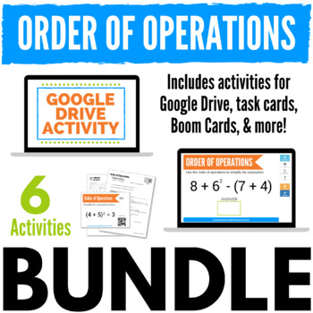 Order of Operations Bundle (printable & digital activities)