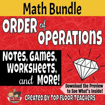 Order of Operations Bundle of Activities