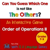 Order of Operations - Can you guess which one? Game II