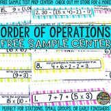 Order of Operations Review Cards {FREEBIE}