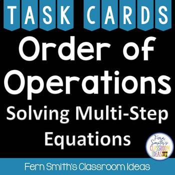 Order of Operations Cards - Solving Multi-Step Equations
