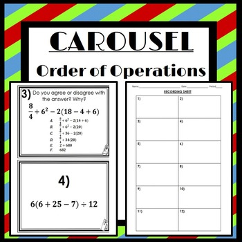Order of Operations: Carousel Activity