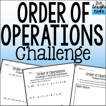 Order of Operations Challenge & Problem Solving