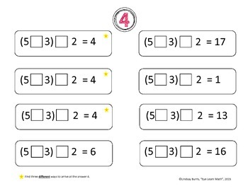 Order of Operations Challenge Puzzles