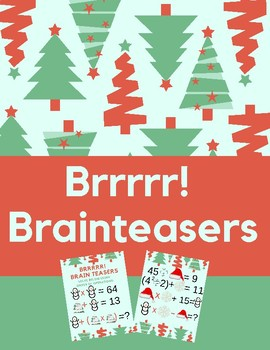Christmas Brain Teasers With Answers.Order Of Operations Christmas Brrrrrr Brainteasers By Sponge