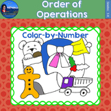 Order of Operations Math Practice Christmas Color-by-Number