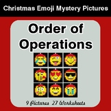 Order of Operations - Christmas EMOJI Color-By-Number Math Mystery Pictures