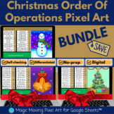 Order of Operations Christmas Math Pixel Art Mystery Pictu