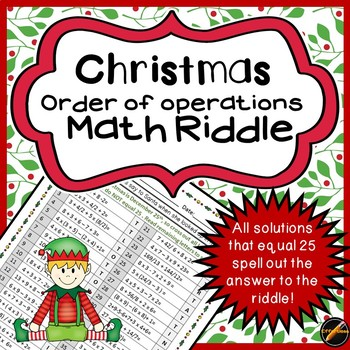 Order of Operations Christmas Riddle