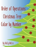 Order of Operations Christmas Tree Color by Number