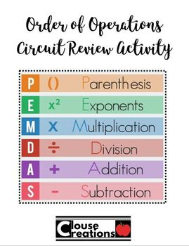 Order of Operations Circuit Review