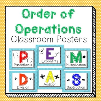 Order of Operations Classroom Posters!