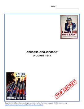Order of Operations Coded Calendar