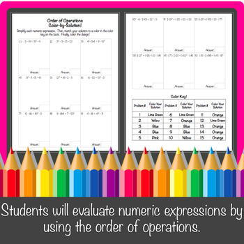 Order of Operations Color-By-Number!