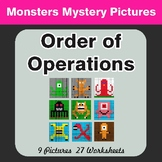 Order of Operations - Math Color-By-Number / Math Mystery Pictures