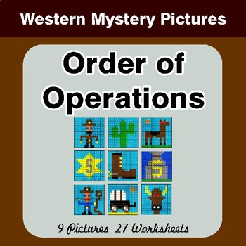 Order of Operations - Color-By-Number Math Mystery Pictures