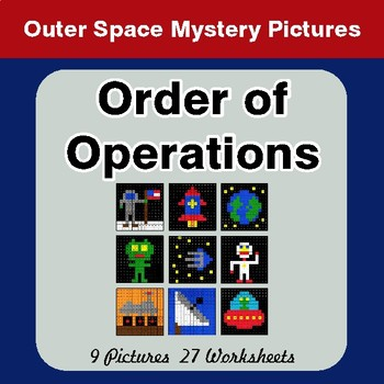 Order of Operations - Color-By-Number Mystery Pictures - Space theme