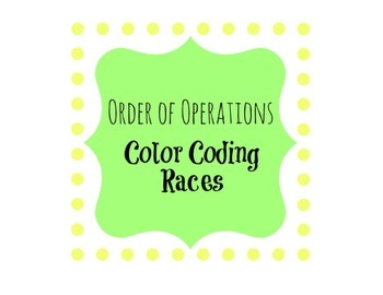 Order of Operations Color Coding Races