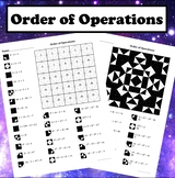 Order of Operations Color Worksheet #1
