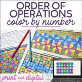 Order of Operations Math Color by Number