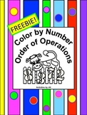 Order of Operations Color by Number FREEBIE