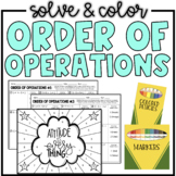 Order of Operations (2 Levels of Practice) | Solve & Color