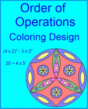 Order of Operations - Coloring Activity