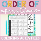 Order of Operations Coloring Activities   No Exponents
