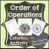 Order of Operations Coloring Sheet {Distance Learning}  {PEMDAS}