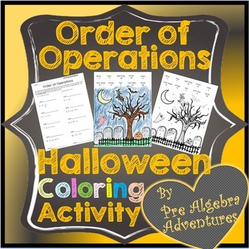 Order Of Operations Coloring Sheet Teaching Resources Teachers Pay