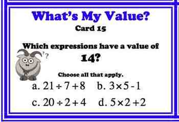 Order of Operations Common Core 5.OA.1 Evaluating Parentheses Task Card BUNDLE