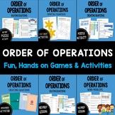 Order of Operations: Creating & Solving Equations BUNDLE (BIMDAS/PEDMAS)