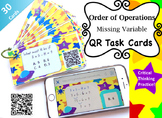 Order of Operations Critical Thinking Missing Variable QR