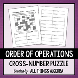 Order of Operations Cross-Number Puzzle