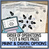 Order of Operations: Cut & Paste Snowflake Activity