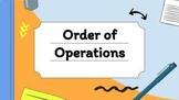 Order of Operations DIGITAL ACTIVITY