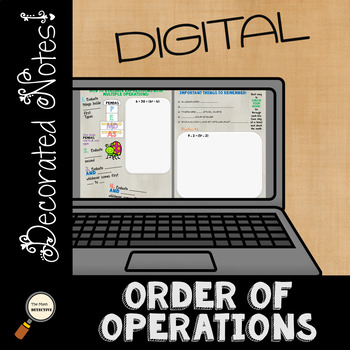 Order of Operations - DIGITAL Decorated Notes for Interactive Notebooks