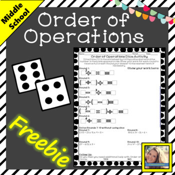 Order of Operations Dice Activity