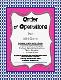 Order of Operations Dice Mini-Game Problem Set Activity &